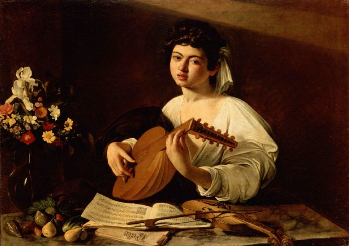 Caravaggio, Michelangelo Merisi da: The Lute Player. Fine Art Print.  (001478)